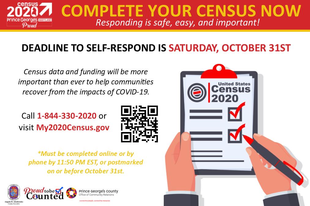 Census Deadline October 31