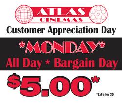 Atlas $5 Banner