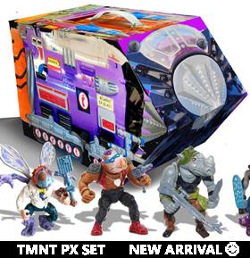 TMNT Retro Rotocast Villains Mutant Module PX Previews Exclusives Set