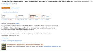 "Over a week before release, The Palestinian Delusion is ""#1 New Release in African History"" (Yes, ""African"")"