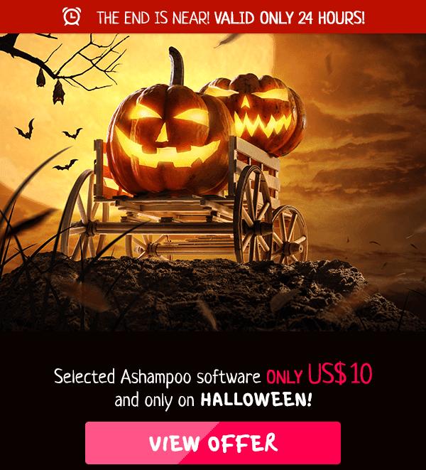 Ashampoo Halloween 2019 Sale