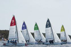 J/70s starting- Sailing Champions League