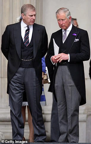 Prince Charles 'read the riot act' to his under-fire brother Andrew (pictured together)