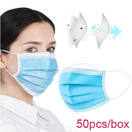 DX.com - Disposable Face Mask 50pcs - $24.57 (in stock)