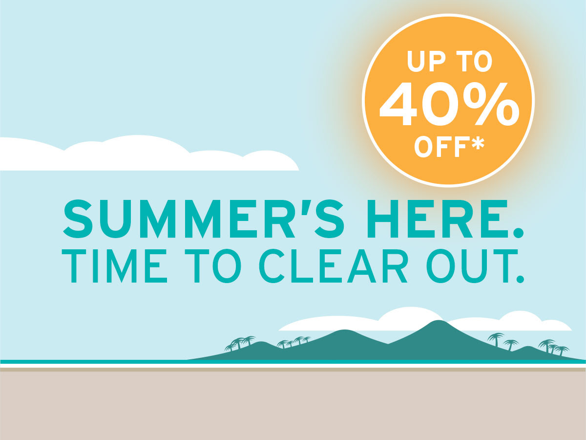 Summer's Here. Time to clear out. Up to 40% off selected gear online and in store at Bivouac Outdoor*