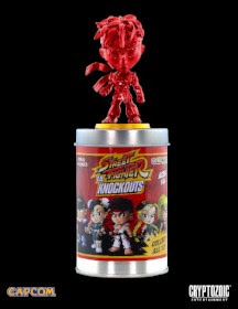 """30th Anniversary Edition"" Metallic Red Ryu Street Fighter Lil Knockouts vinyl figure"