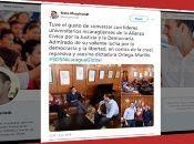 Representantes políticos de El Salvador se reune con miembros de la oposición nicaragüense.