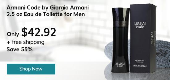 Armani Code by Giorgio Armani 2.5 oz Eau de Toilette for Men