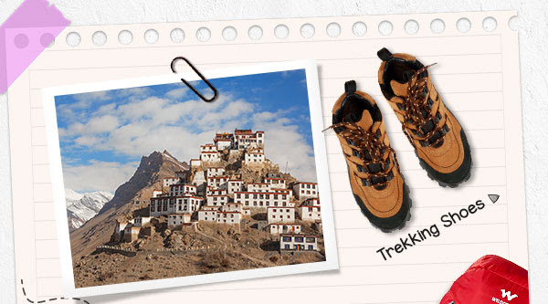 Trek Shoes becaue the next place is Spiti in Himachal Pradesh - nearest airport 245Km away