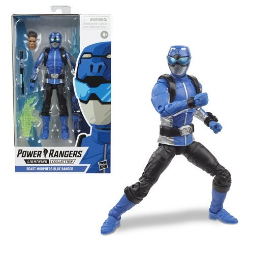 Image of Power Rangers Lightning Collection Wave 3 Beast Morphers Blue Ranger 6-Inch Action Figure