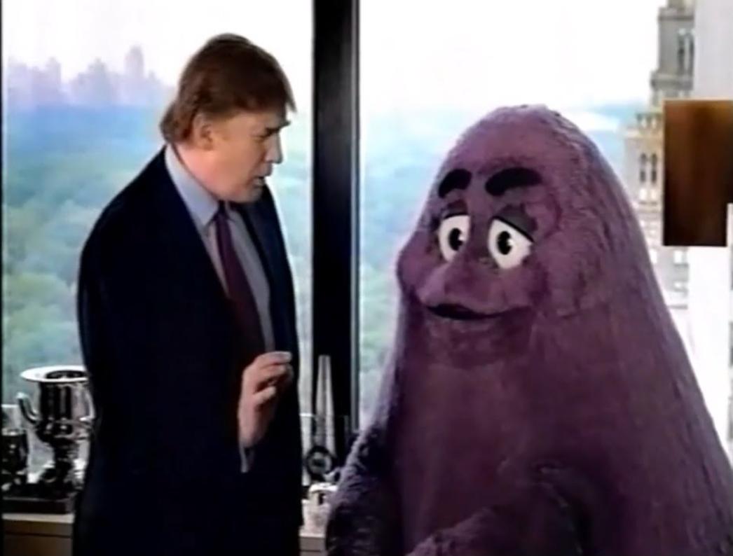 Grimace + Trump