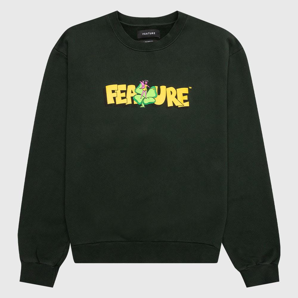 Feature Clover Crewneck Sweater - Green