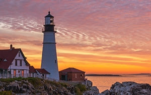 Sunrise at Portland Head Light House