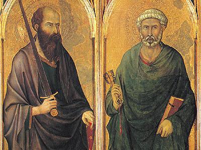 Znalezione obrazy dla zapytania piotr i pawel apostolowie