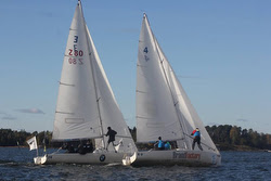 J/80s sailing in Finland Sailing League- off Helsinki