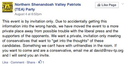 TEA Party FB Post