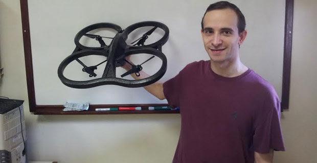 Professor da UFMG, Luiz Filipe Vieira diz que drones podem oferecer melhor informação tridimensional para mostrar fatos ou fenômenos  (Erik de Brito/divulgação )