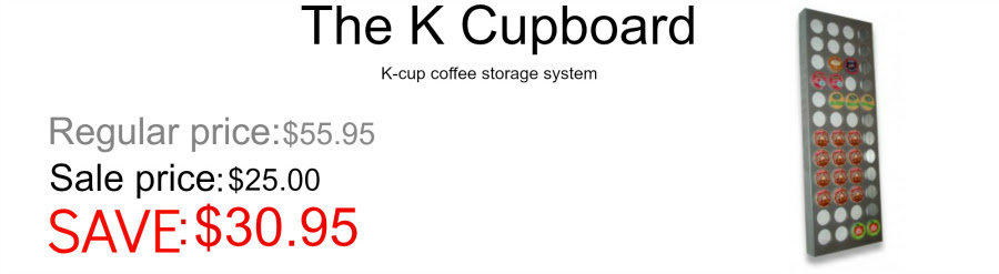 The K Cupboard Keurig coffee storage system