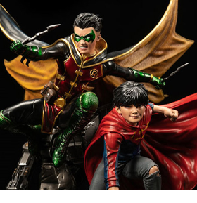 DC Rebirth Premium Collectibles Super Sons 1/6 Scale Limited Edition Statue with Plaque