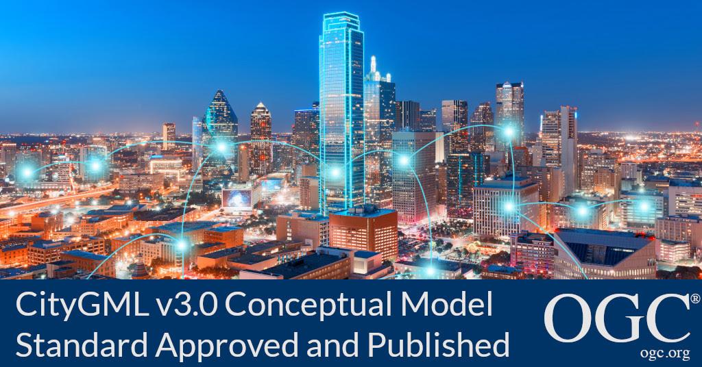 Banner announcing the adoption of OGC CityGML v3.0