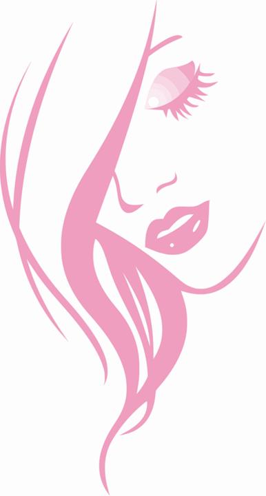 Beleza, Mulher, Menina, Rosa, Abstract, Rosto, Lábios