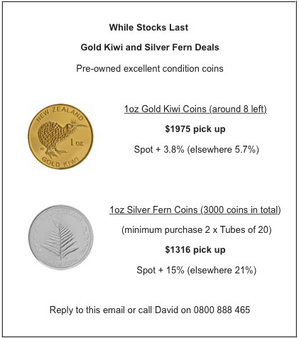 Gold and Silver Coin Deals