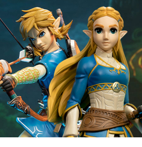 Breath of the Wild Link & Zelda Collectors Edition Statues