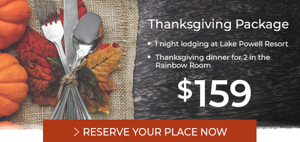 Thanksgiving Package from $159 - Reserve Now
