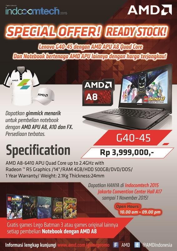 Jadilah AMD Red Team dan dapatkan Laptop ASUS X550ZE dan VGA R9 380X