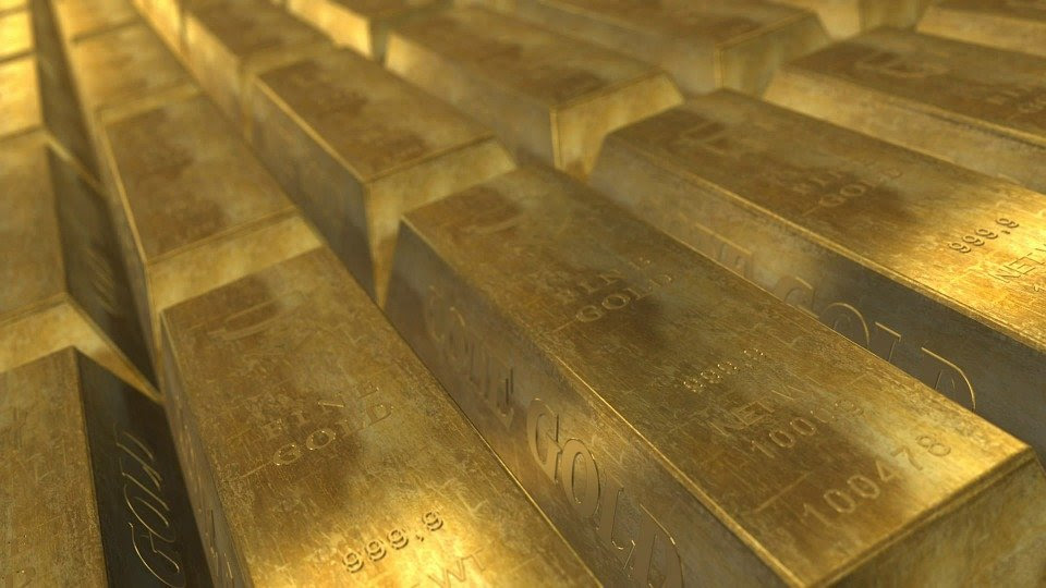A photo of gold bars