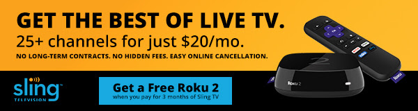Get the best of live TV. 25+ Channels for $20/mo. - Sling TV