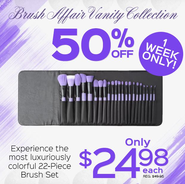 50% Off Brush Affair Vanity Co...
