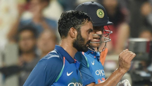 Dinesh Karthik has more experience as compared to Rishabh Pant