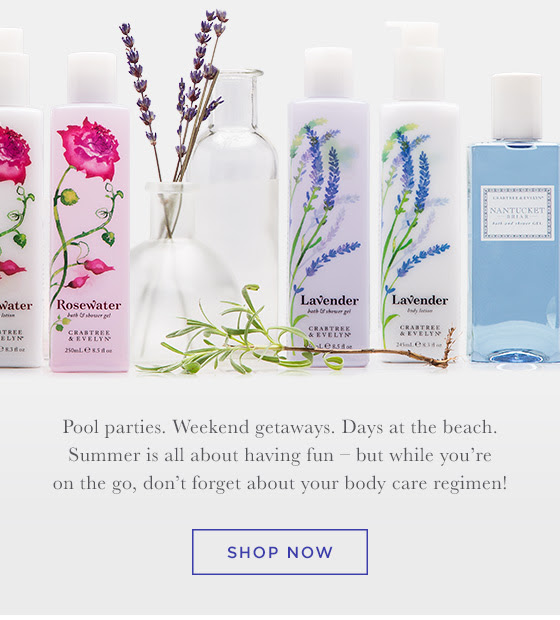 Pool parties. Weekend getaways. Days at the beach. Summer is all about having fun – but while you're on the go, don't forget about your body care regimen! Shop Now