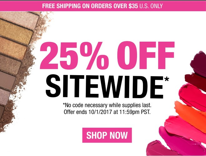 25% OFF SiTEWIDE