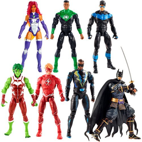 Image of DC Multiverse Wave 11 (Collect 'n Connect Ninja Batman) - Complete Set of 6 - BACKORDERED JULY 2019