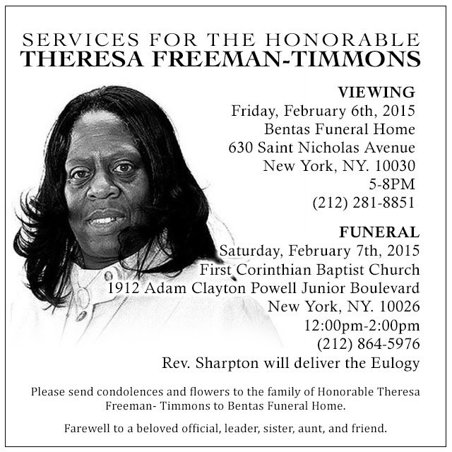 Services- Honorable Theresa Freeman-Timmons