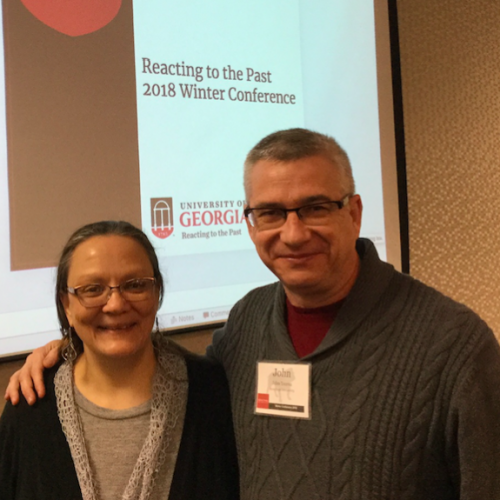 picture of history professors Karen Pinto and John Ysersa