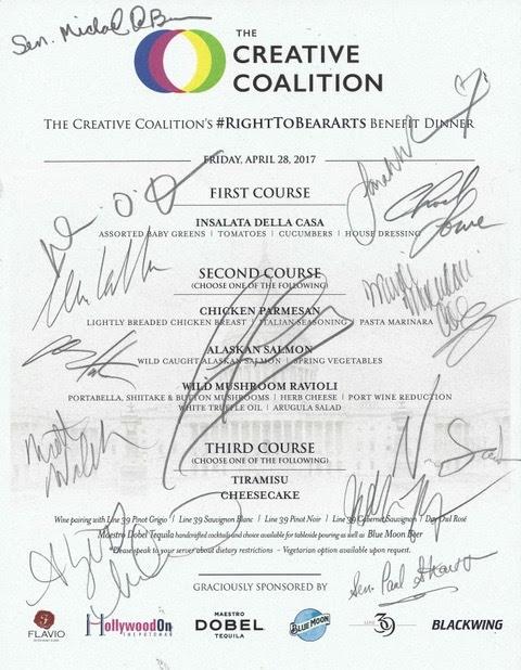 Blackwing signed menu TCC RTBA 042817