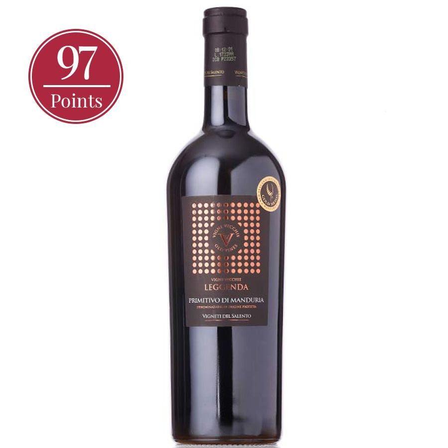 Bottle of Primitivo di Manduria DOP Vigne Vecchie Gold Series by Vigneti del Salento 2018