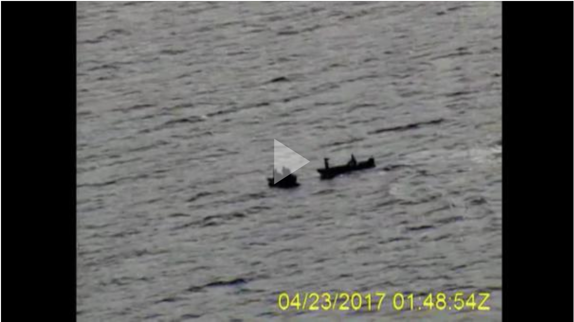 A Coast Guard Air Station Kodiak HC-130 Hercules airplane crew located a disabled 24-foot lund near Hooper Bay, Alaska, and Alaska State Troopers assi
