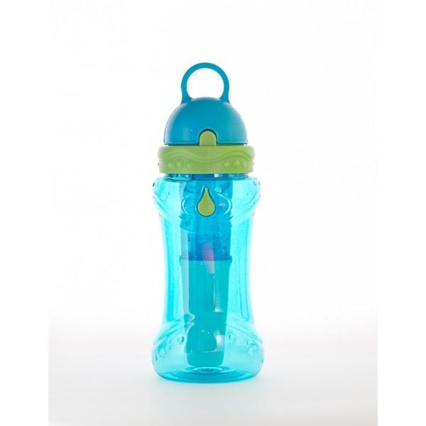 Sticla de apa cu filtru de carbon si gel de racire non toxic, 414 ml BLEU - Irisana