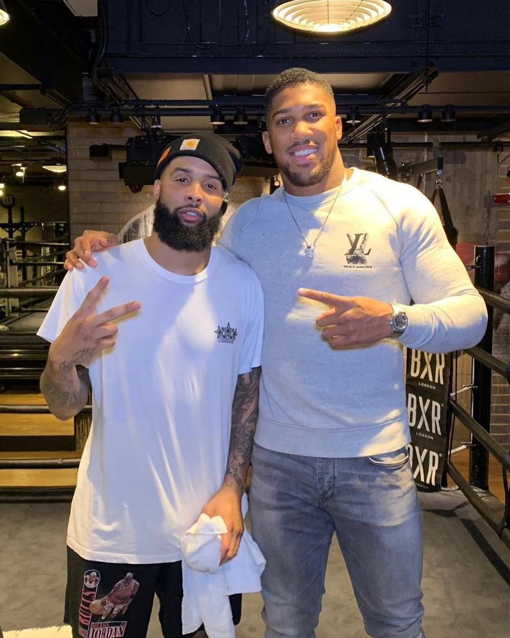 Anthony Joshua recently met American football star Odell Beckham (Instagram/Anthony Joshua)