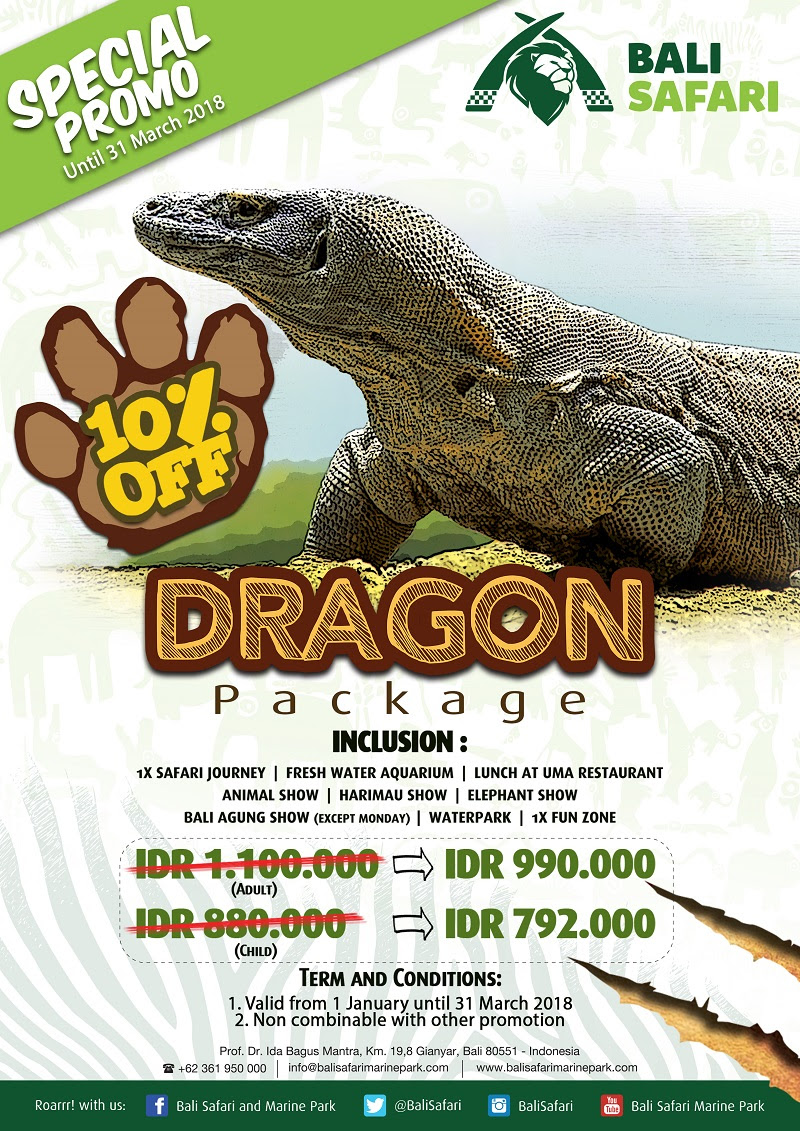 Special Promo At Bali Safari Marine Park Magazine Ticket Night Package