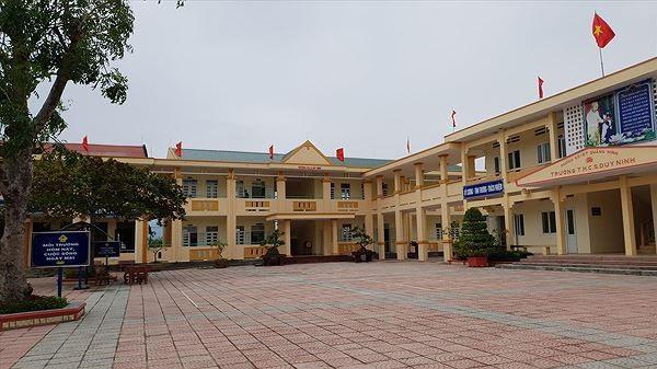 Trường THCS Duy Ninh, nơi xảy ra vụ việc