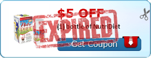 $5.00 off (1) bottle of NutriDiet
