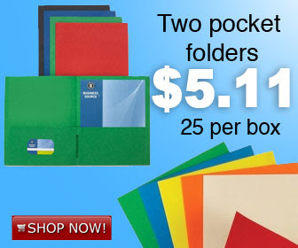 Save on Two-Pocket Folders ($5...