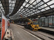 Liverpool Lime Street platform works Oct 2017-2