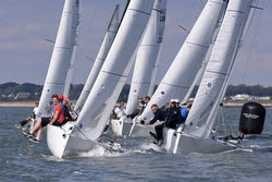 J/70s sailing UK Nationals- start