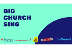 A blue and green logo reading 'The Big Church Sing'
